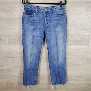 Lucky Brand Remade Ava Slim Straight Cropped Jeans